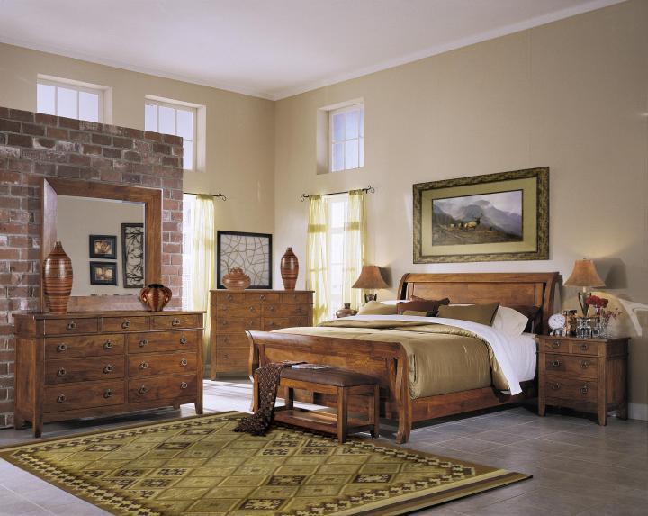 Muebles y decoraci n de interiores dormitorios r sticos for Dormitorio rustico