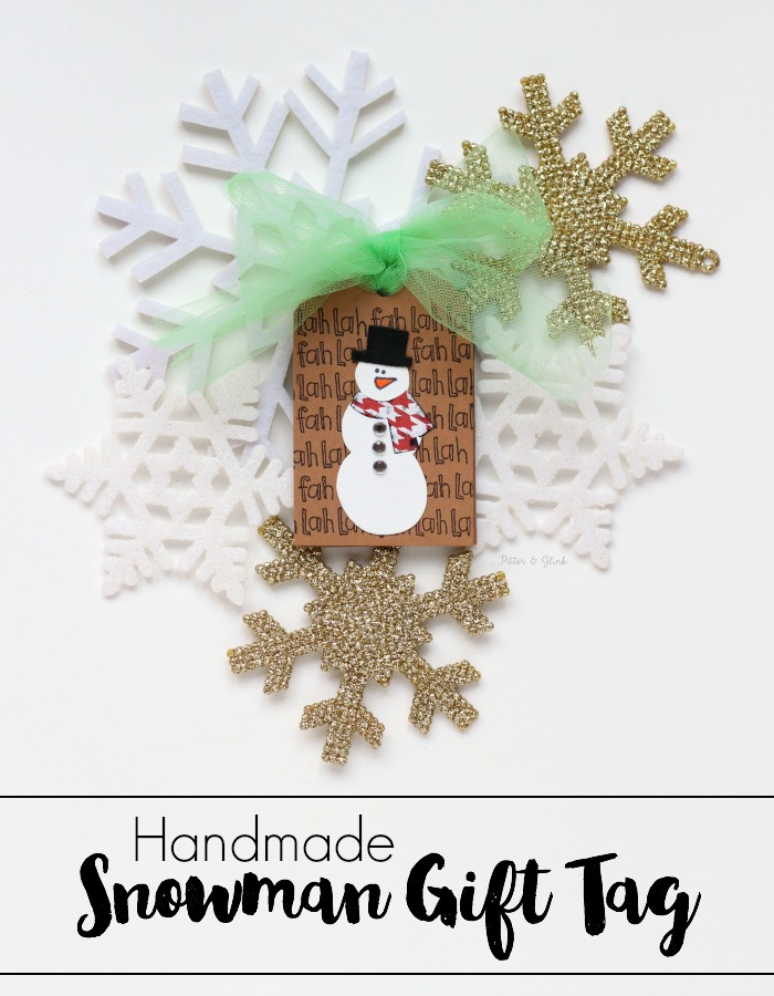 Handmade Snowman Gift Tag | Make this easy gift tag using your Sizzix BIGkick and dies! www.pitterandglink.com