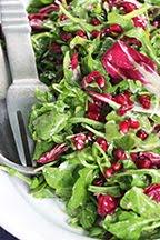 Arugula & Radicchio Salad w/ Anchovy-Dijon Vinaigrette