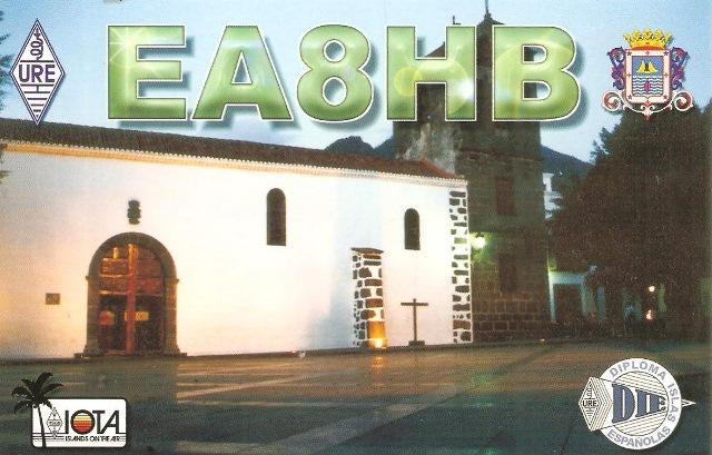 QSL - EA8HB - QSO Sat. SO50 - 14/03/2017 - Canarias Island - Africa