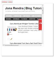 Membuka Blog di Blog dengan IFrame - Jona Rendra