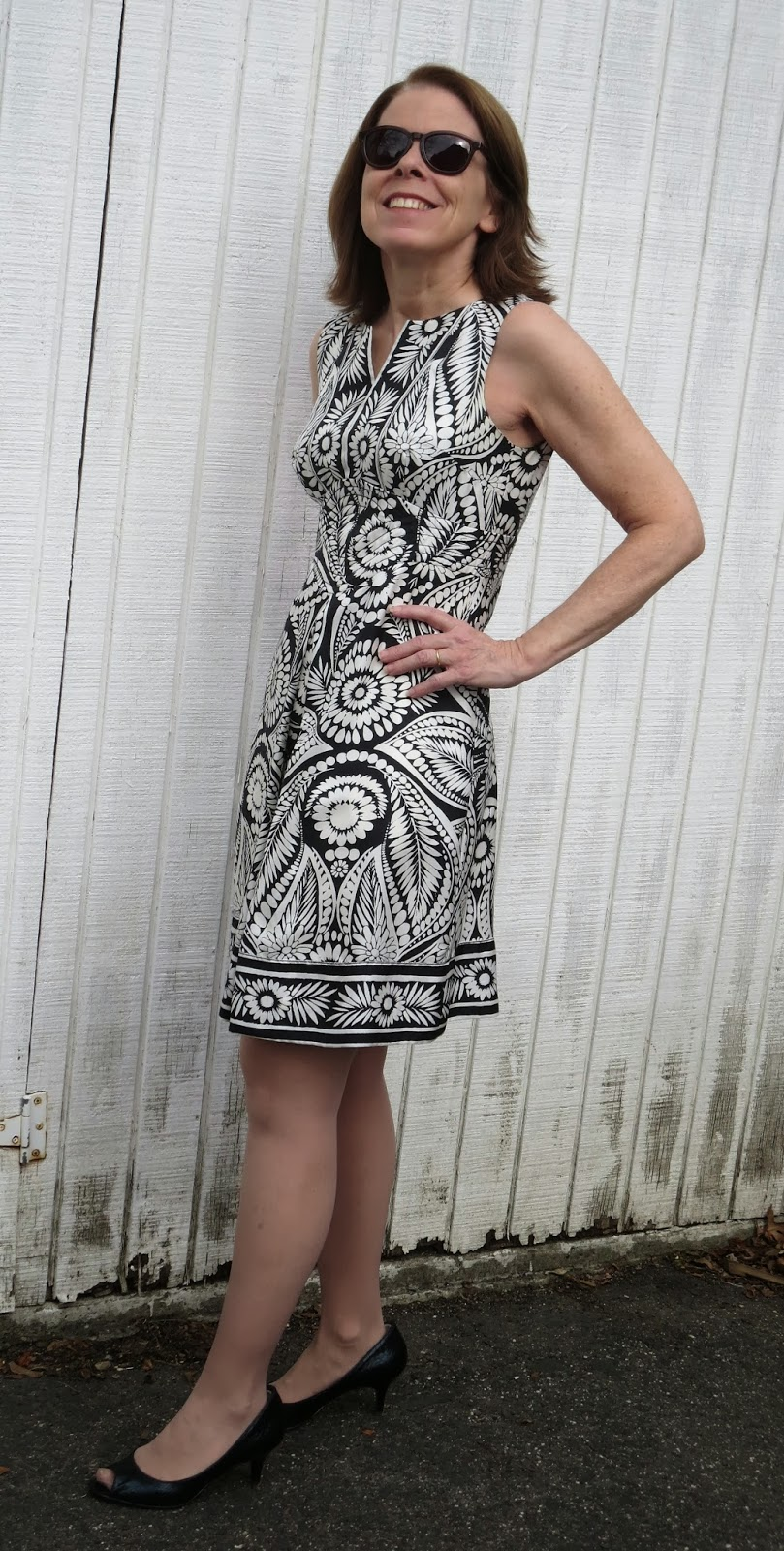 bold print dresses for women over 50