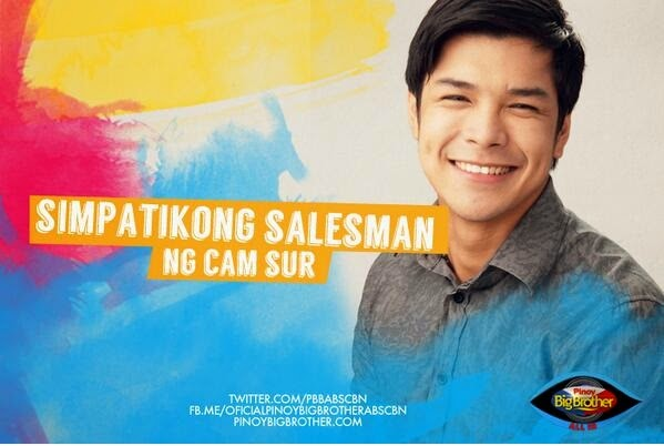 "Pinoy Big Brother All housemates - Chevin Cecilio ""Simpatikong Salesman"""
