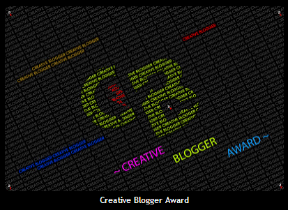 Creative Blogger Award (given to me by Bushra)