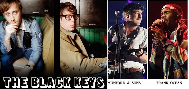 Black keys, frank ocean and mumford and sons dominates grammys