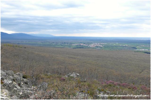 Vista de Riaza desde Mirador de Peñas Llanas