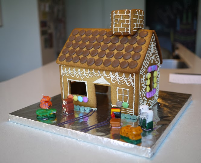 Coco's sixth birthday gingerbread house