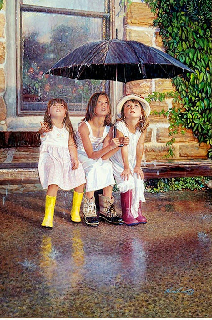 pinturas-realistas-en-acuarela-de-niñas