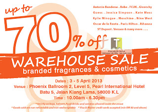Branded Fragrance & Cosmetics Warehouse Sale 2013