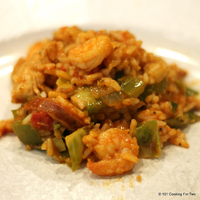 Spicy Three Meat Jambalaya from 101 Cooking For Two