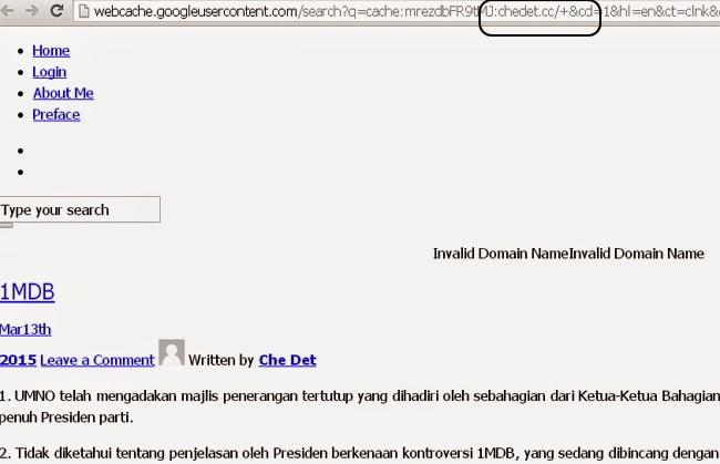 Post Terbaru Blog Tun Mahathir Tentang 1MDB Sebelum Digantung