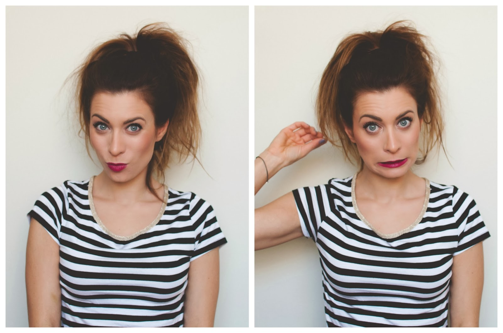 Quick And Easy Top Knot No Sock Or Hair Doughnut Required La