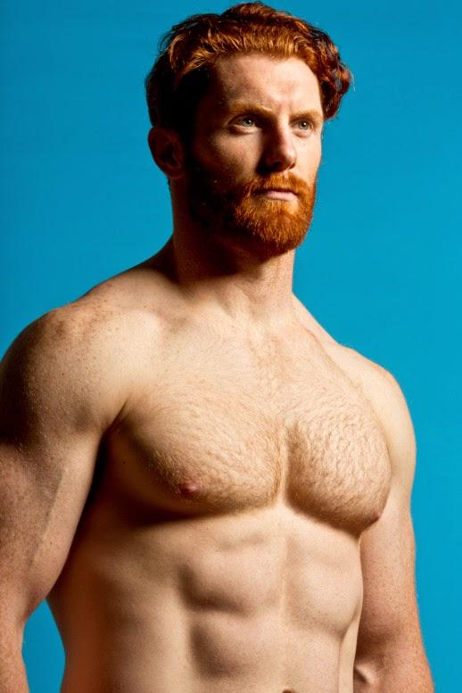 Male model ginger When Male