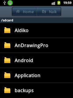 File manager bawan android sebelum di buka