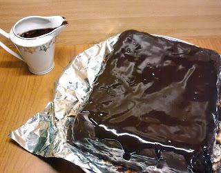 Tarta de Galletas con la Cobertura de Chocolate
