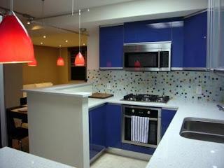 blue kitchen cabinets design
