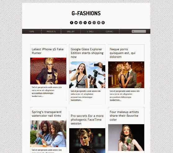 G-Fashions Blogger Template
