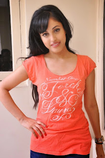 Priya Bennerjee in lovely Deep Neck Orange T Shirt and Denim   Girls in Denim