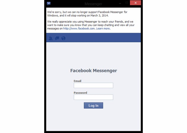 Facebook Messenger App For Windows Will be Discontinuing at 3rd March