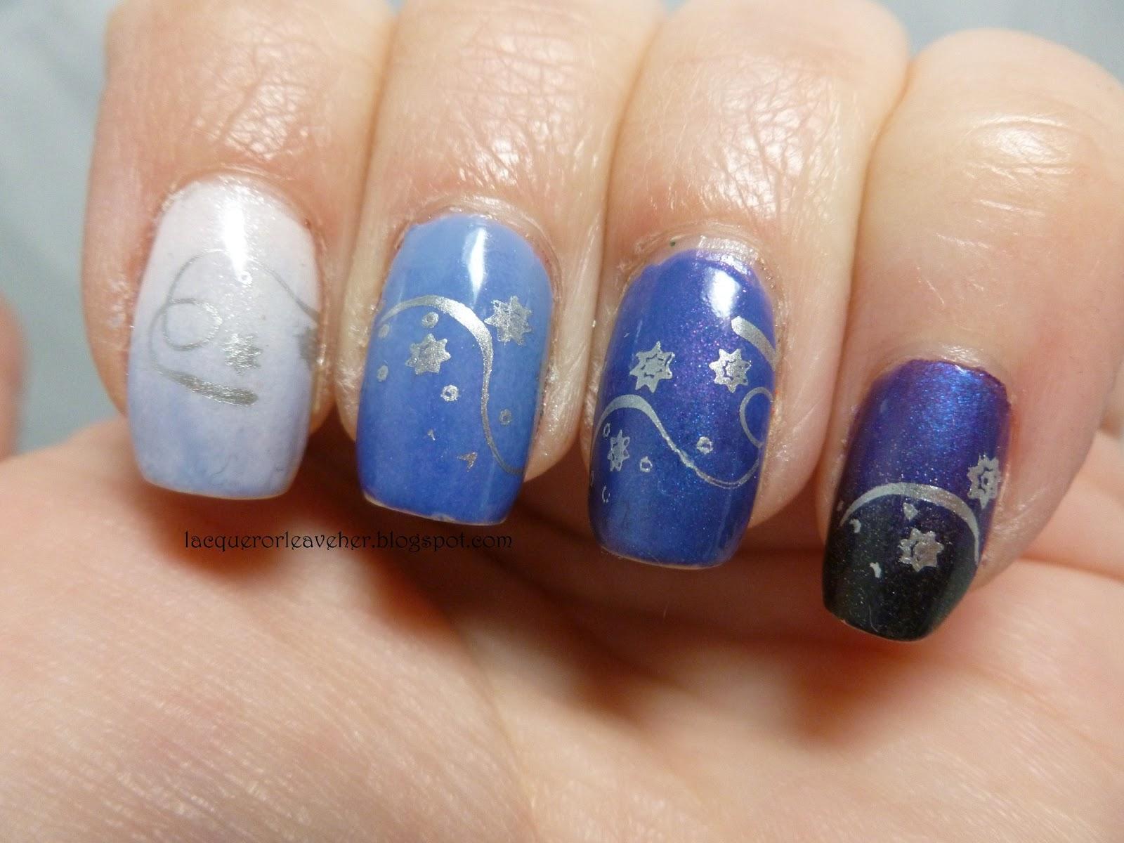 Winter Ombre Nail Designs