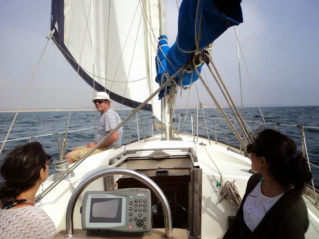Sailing in Peniche