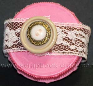 bottle cap mini scrapbook