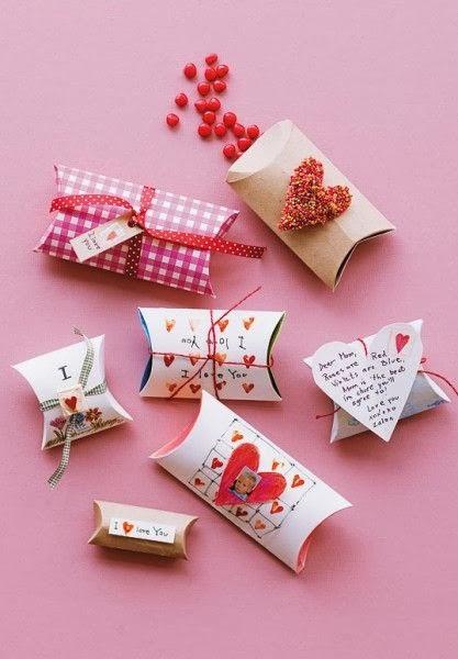 koperty walentynkowe inspiracje DIY pudełko/koperta z rolki papieru