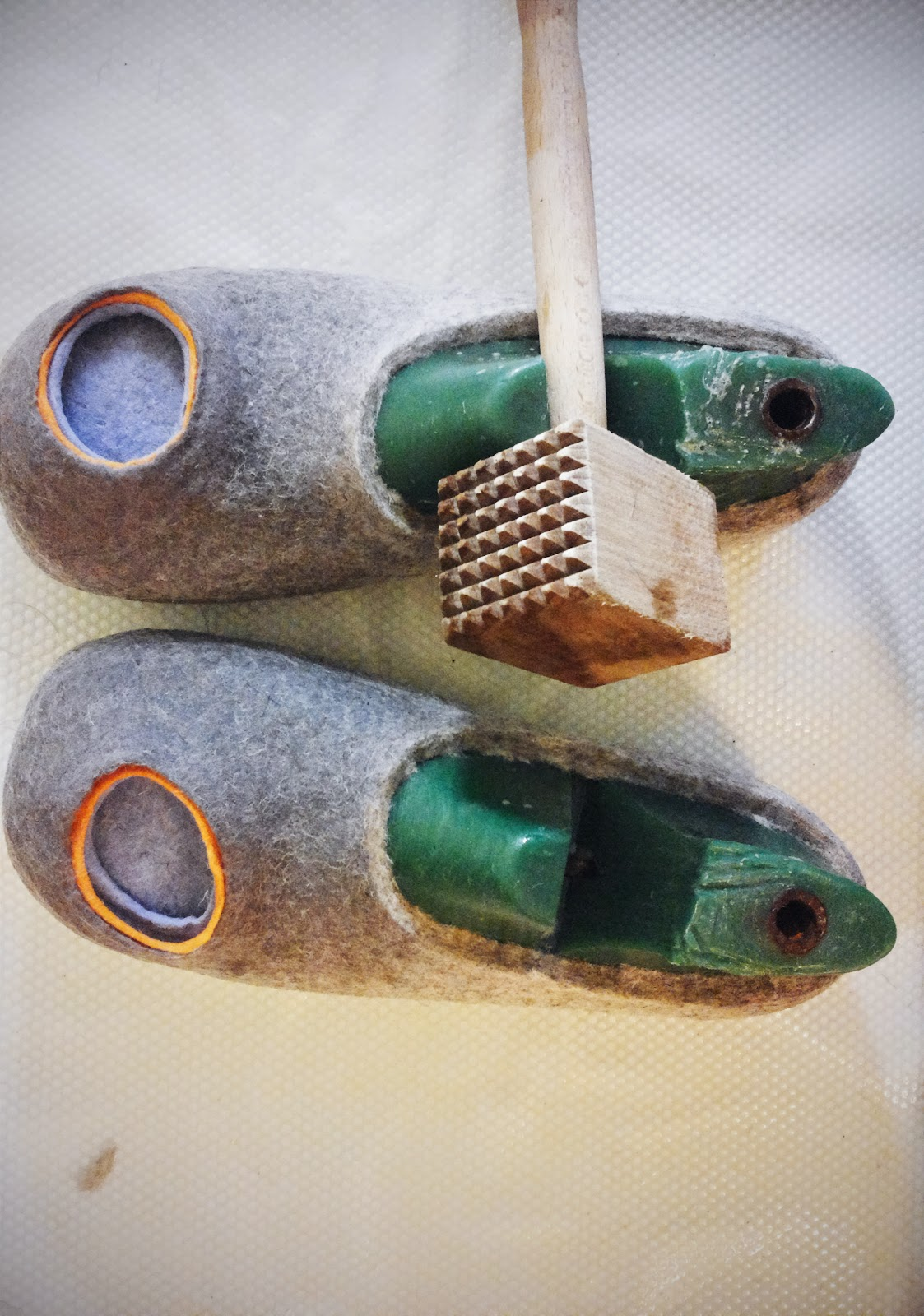 Felting Adult Slippers