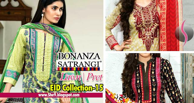 Bonanza Satrangi Eid Lawn Pret Magazine