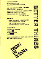 Theory on Blondes - Better Things tape (1990)