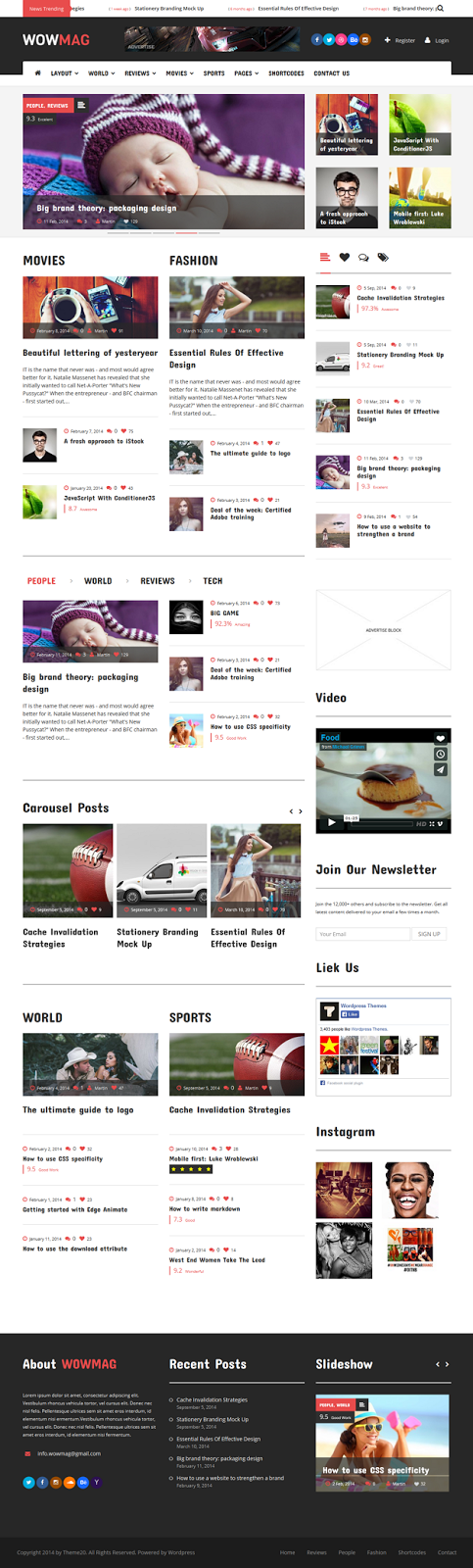 Responsive Magazine Website Theme