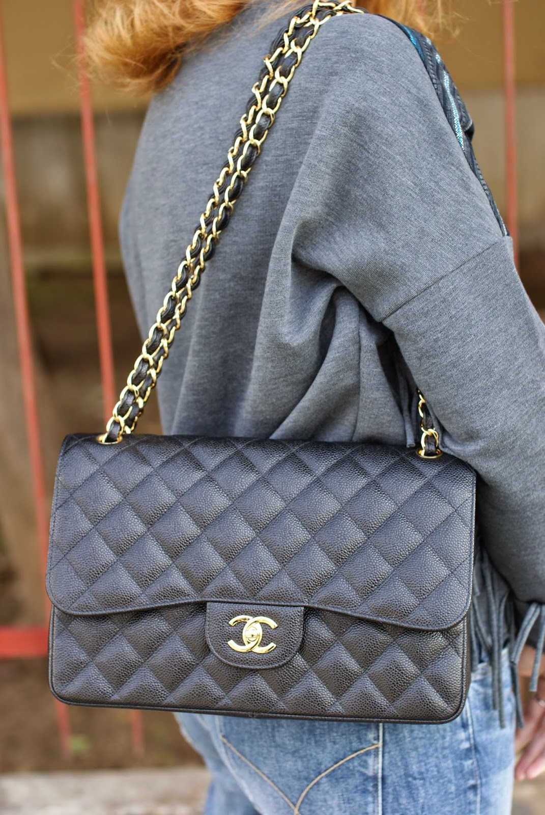 Chanel 2.55 bag, Chanel classic flap caviar, Fashion and Cookies fashion blog, fashion blogger