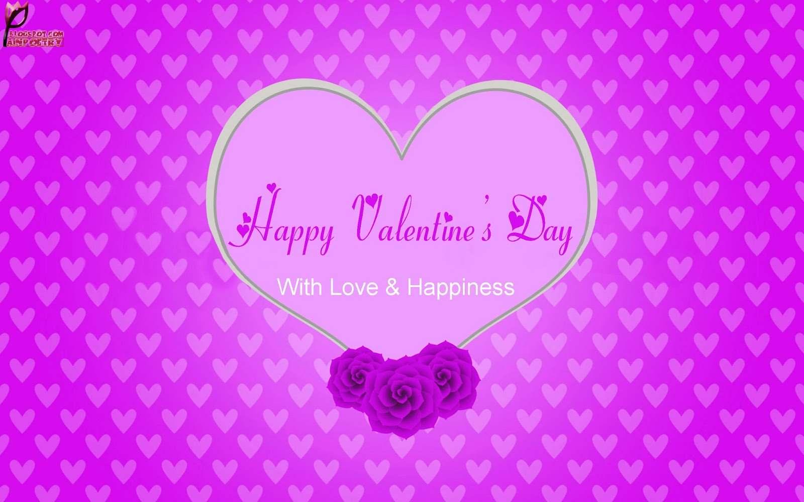 Happy-Valentines-Day-Wishes Wallpaper-With-Wishes-Image-HD-Wide