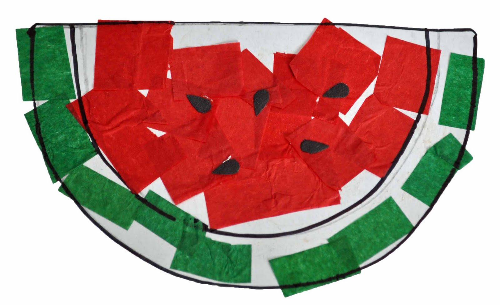 Watermelon Crepe Paper Pic