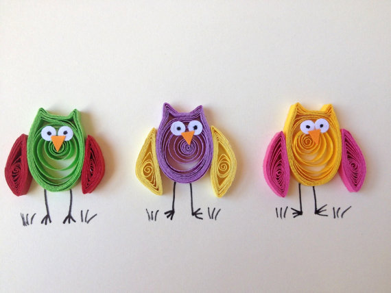 Handmade Card With Simple Animal Quilled Projects Art Craft Ideas