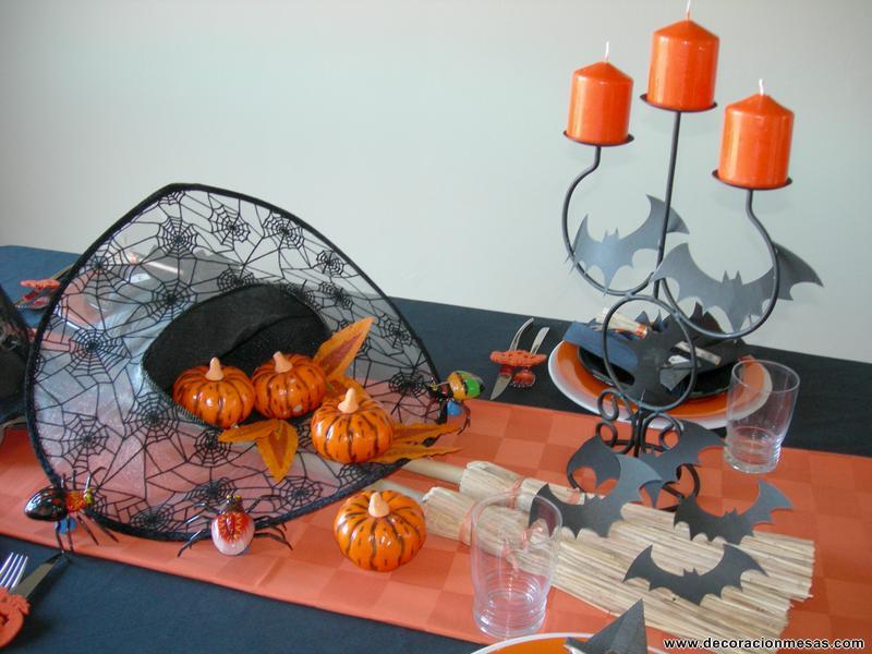 Decoracion de mesas mesa de halloween for Centros de mesa para halloween