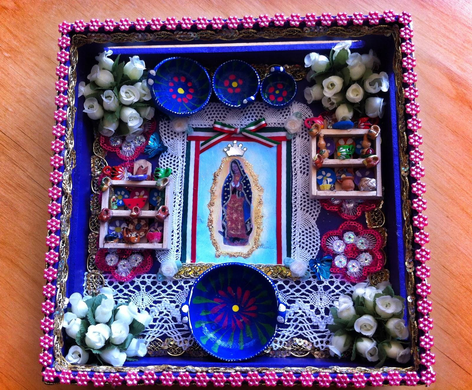 Arte misi n mar a cajas de madera pintadas y decoradas a mano - Cajas decoradas a mano ...