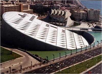 Biblioteca de Alejandria - Egipto. los edificios mas extraños del mundo. edificios extraños. lugares sorprendentes