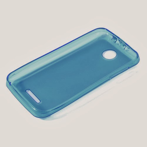 Pudding TPU Jelly Case Cover Protector for Lenovo A390 - Blue