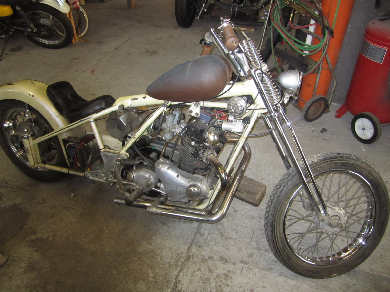 1974 Norton Commando Chopper My Buddy Just Picked This Up
