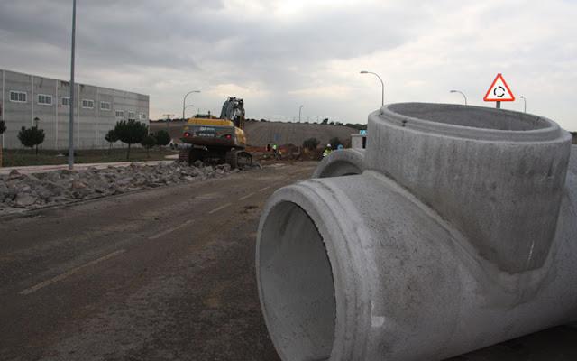 Vista de los trabajos que se realizan en la zona de La Pradera de El Señorío de Illescas. IMAGEN COMUNICACION ILLESCAS