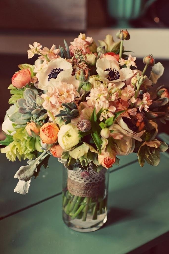 Les magnolias de la mari e bouquets de mari e boh me for Pinterest flur