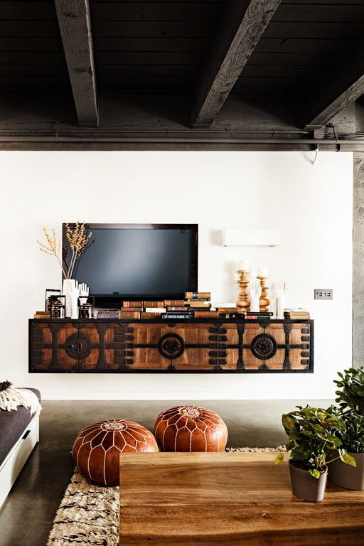 Old Warehouse Loft Interior Design Credenza
