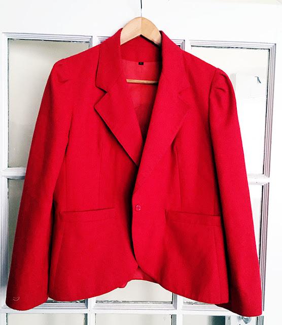 vintage blazer, fall outerwear