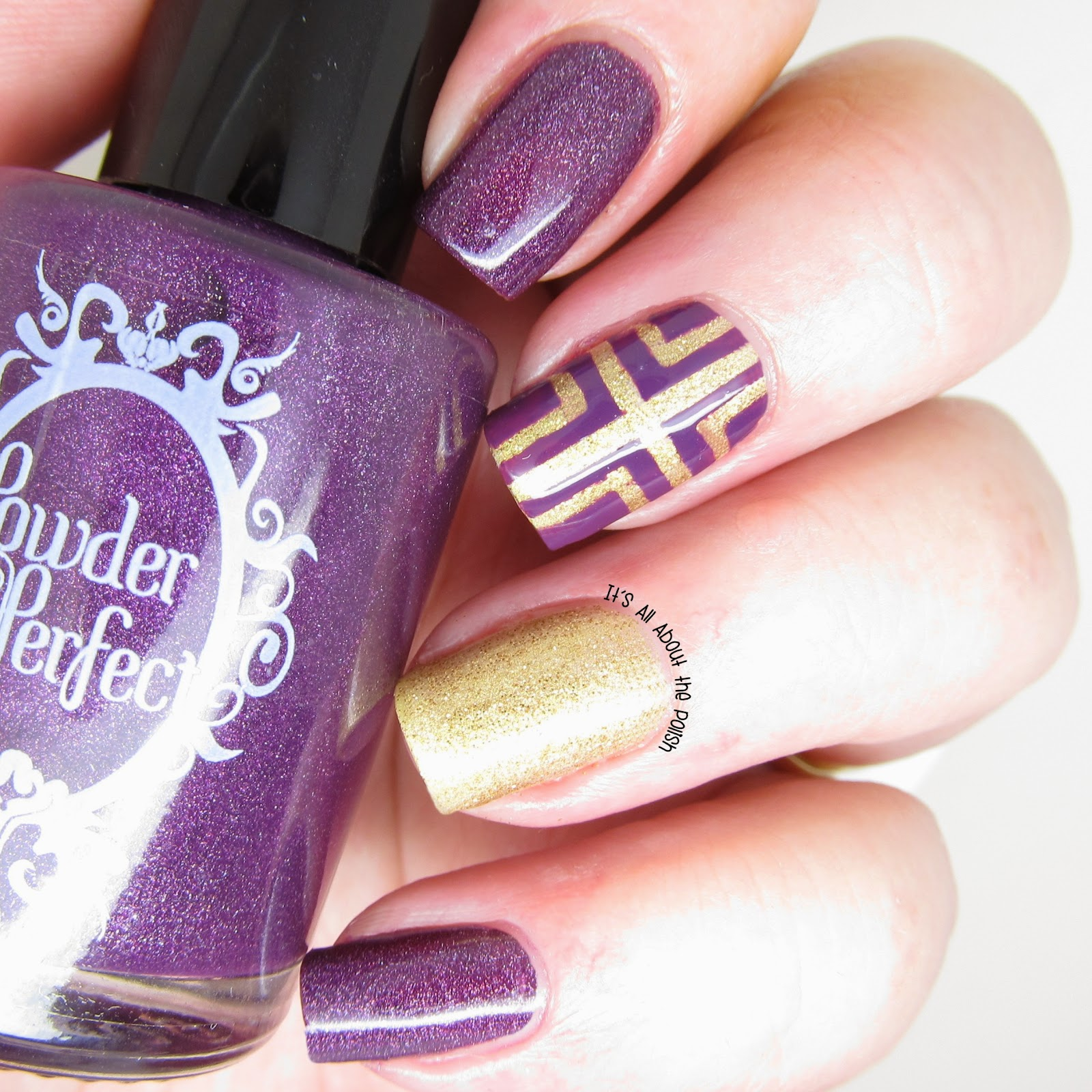 Its All About The Polish Powder Perfect Cross Nail Design