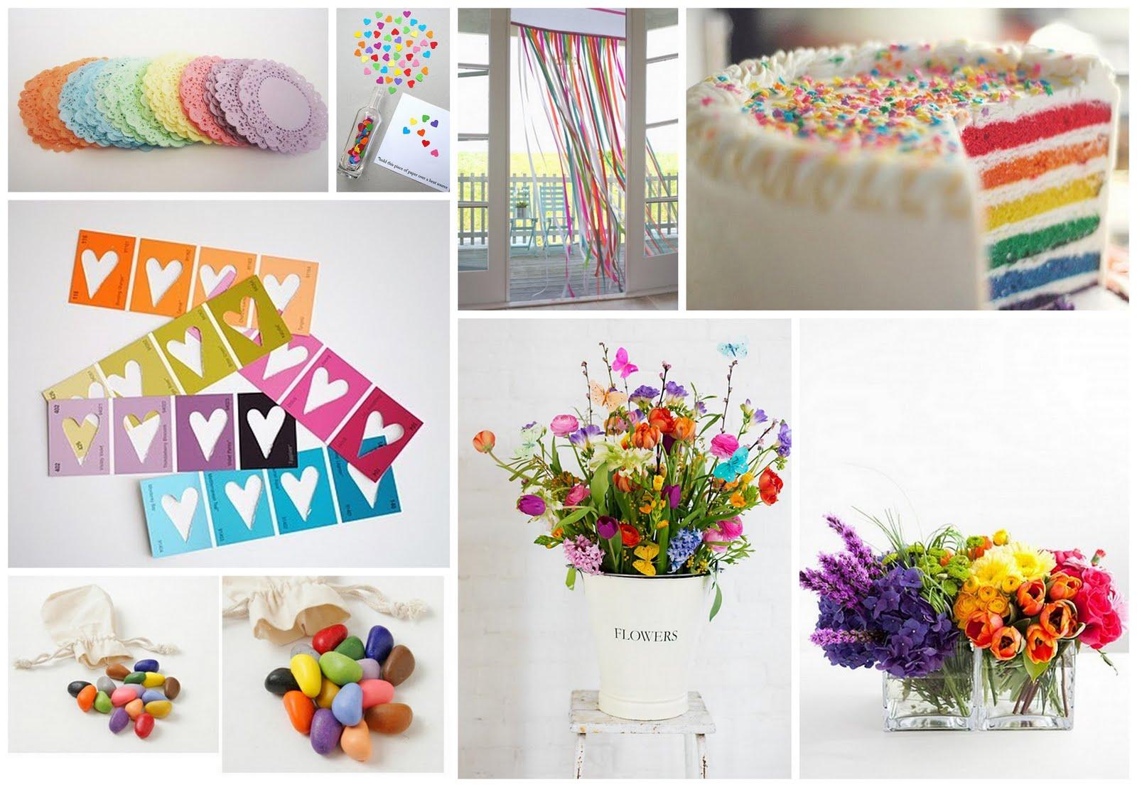 Rainbow wedding theme Inspiration needed please Kept Elegant