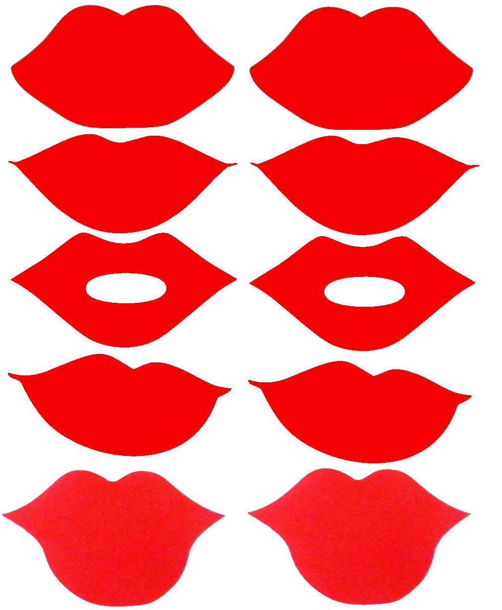 Wild image throughout printable lips