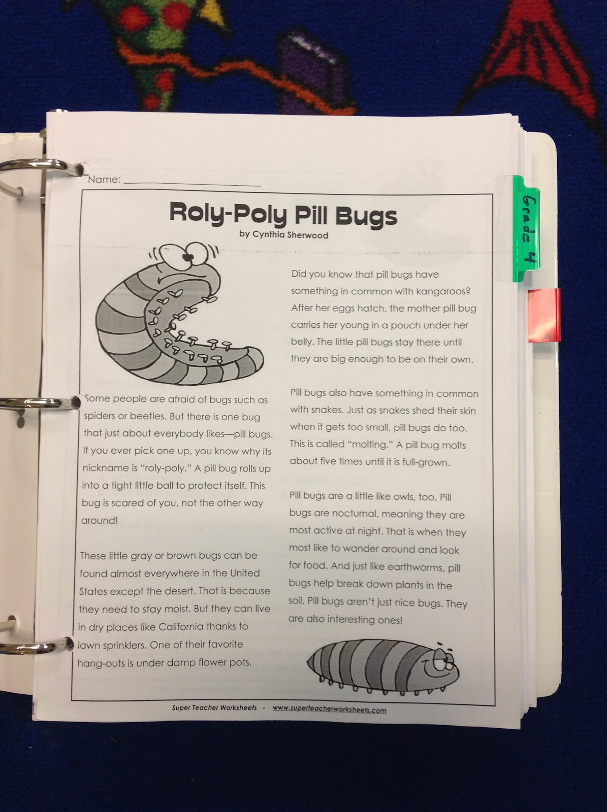 this site has reading comprehension passages for grades k 5