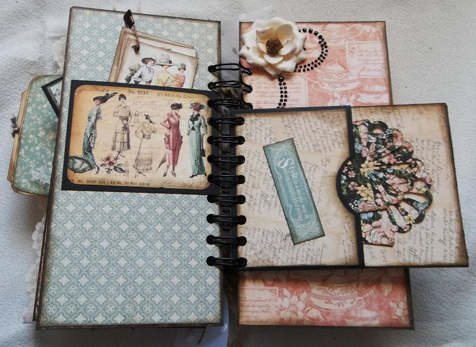 Creative Cafe A Vintage Ladies Diary Mini Album
