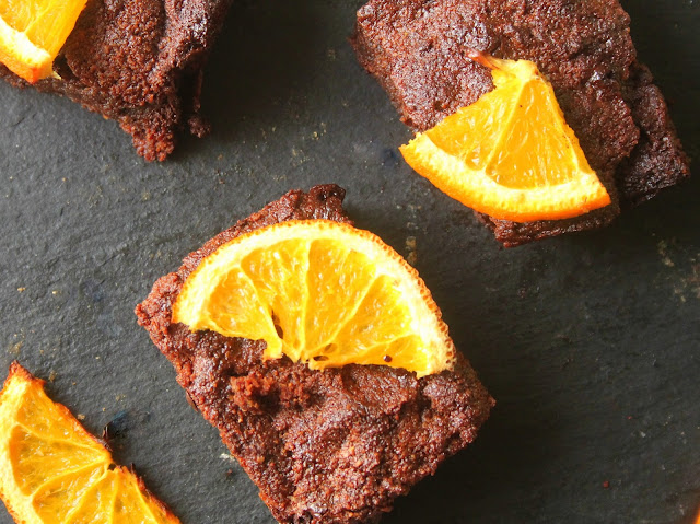 paleo chocolate orange brownies